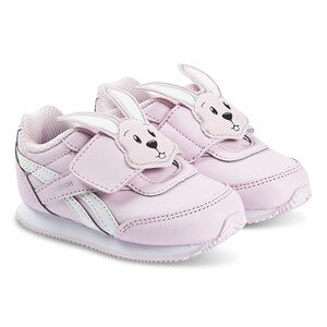 Reebok Pink & White Royal Velcro Infants Trainers 20 (UK 4)