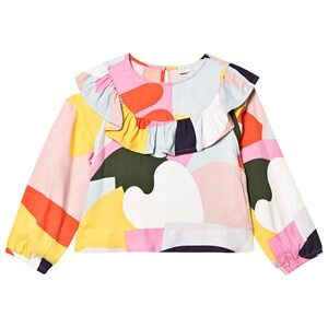 Stella McCartney Kids Patchwork Flæse Bluse Multicolor 12 years
