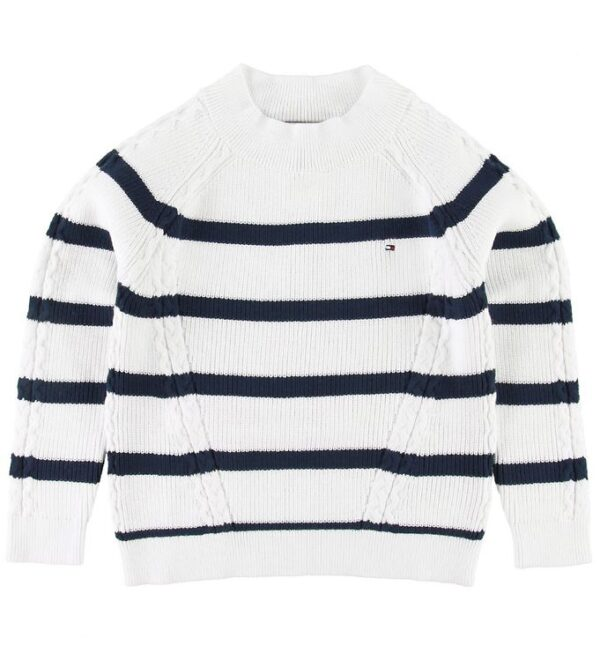 Tommy Hilfiger Sweater - Nautical - Hvid/Navy