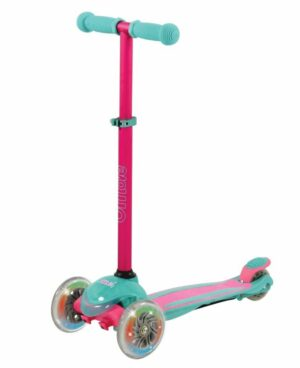 U Move Mini Compact LED Løbehjul, Pink / Teal