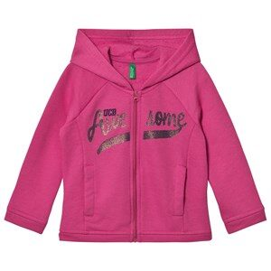 United Colors of Benetton Sweat Zip Hoodie With Sequins Pink 18-24 mdr