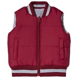 Andy & Evan Vendbar Teddy Fleece Vest Maroon/Grå 3 years