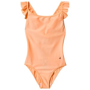 Bonpoint Cherry Logo Frill Cross Back Badedragt Coral 4 years