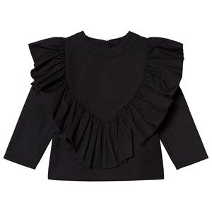 Caroline Bosmans Top with Frills Black 4 år