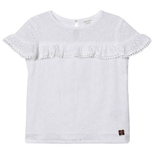 Carrément Beau White Broderie Anglais Ruffle Detail Blouse 2 years