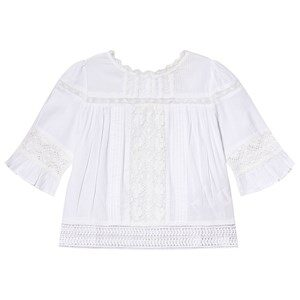 Cyrillus White Lace Detail Frill Blouse 4 years