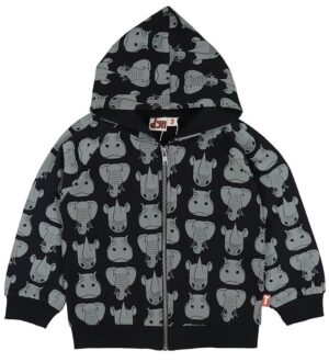 DYR Cardigan - Panda Zip Up - Black Tykhuder