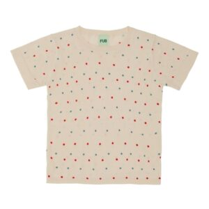 FUB Dot T-shirt Ecru/Red/Blue SS20