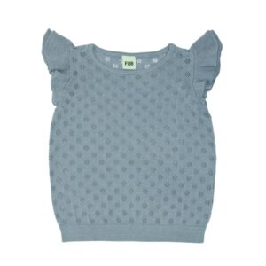 FUB Pointelle T-shirt Blue SS20