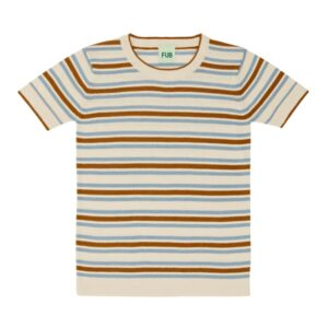 FUB Striped T-shirt Ecru/Blue/Sienna SS20