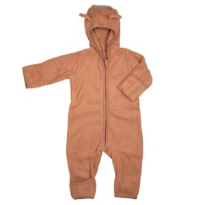 Huttelihut Baby Fleece Dragt m. Ører - Terracotta