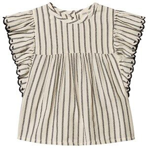 Louis Louise Stripe Jasmin Top Black/White 2 Years