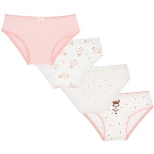 Mayoral 4-Pack Ballerina Trusser Pink/Hvid 2 years