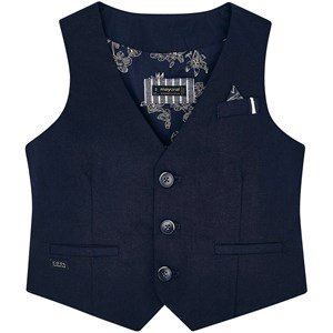 Mayoral Linen Vest Navy 2 years