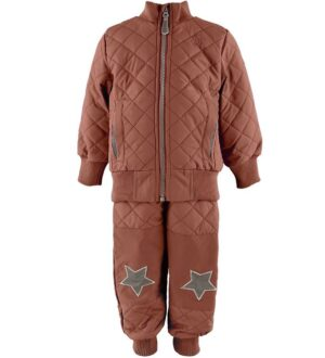 Mikk-Line Termotøj m. Fleece - Coated - Brown Patina
