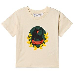 Mini Rodini Panther T-shirt Off White 80/86 cm