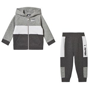 NIKE Nike Air Fleece Full-Zip Hoodie and Jogger Set Grey 12 months