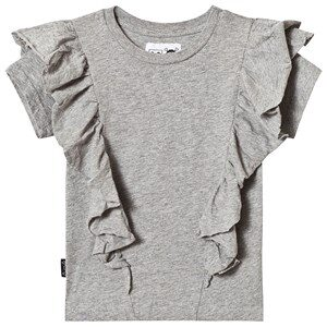 NUNUNU Ruffled T-Shirt Heather Grey 4-5 år