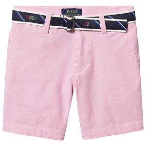 Ralph Lauren Belted Oxford Chino Shorts Pink 2 years