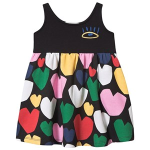 Stella McCartney Kids Multicolor Hearts Fleece Dress Black 2 years