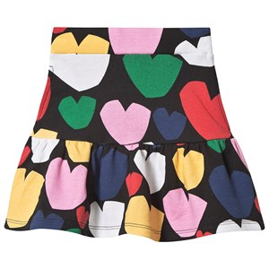Stella McCartney Kids Multicolor Hearts Fleece Skirt Black 2 years