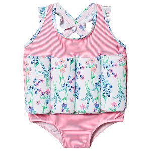 Sunuva English Floral Float Badedragt Pink Striber 1-2 years