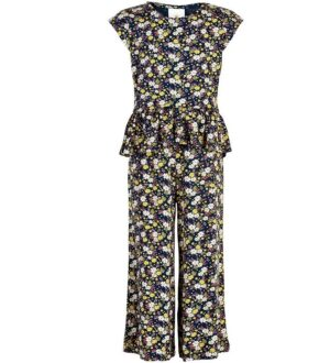 The New Buksedragt - Orchid - Navy m. Blomster