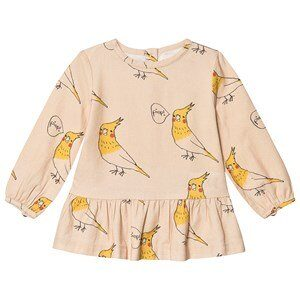 nadadelazos Pitti Bird Bluse Cream 3-4 år