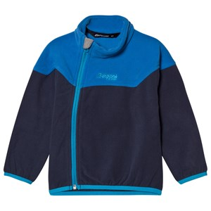 Bergans Navy / Athens Blue Ruffen Fleece Jacket 110 cm (4-5 år)