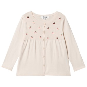 Bonpoint All Over Cherry Logo Knit Cardigan Pink 4 years