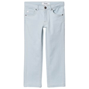 Bonpoint Frayed Cherry Jeans Light Wash 4 years