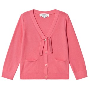 Bonpoint Pink Button and Tie Detail Cardigan 4 years