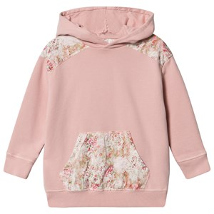 Bonpoint Pink and Floral Liberty Print Patchwork Hoodie 4 years