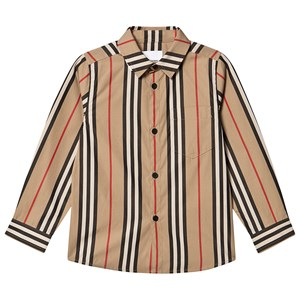 Burberry Icon Stribet Poplin Skjorte Archive Beige 10 years