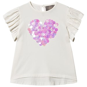 Creamie Big Paillet Skjorte T-Shirt Cloud 104 cm (3-4 år)