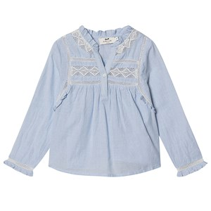 Cyrillus Lace Fiorina Bluse Blå 4 years