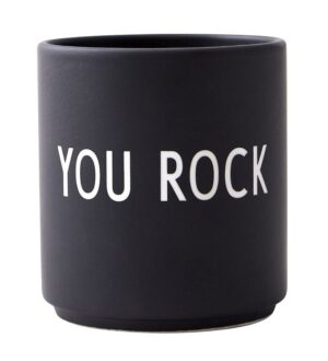 Design Letters Kop - Favourite Cups - Porcelæn - Sort You Rock