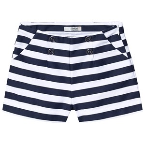 Dr Kid Navy and White Stripe Button Detail Shorts 10 years