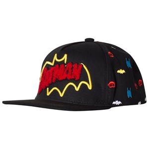 Fabric Flavours Black Batman Retro Logo Cap One Size (5-10 years)