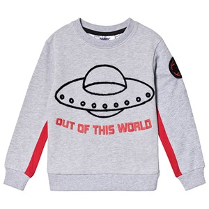 Fabric Flavours Out of This World Spacecraft Sweatshirt Grå 5-6 years