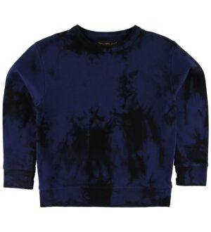Finger In The Nose Sweatshirt - Brian - Navy Tie & Dye