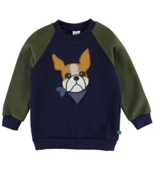 Freds World Sweatshirt - Navy m. Bulldog