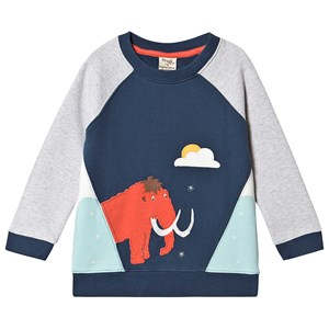 Frugi Summit Sweatshirt Space Blue/Mammoth 6-7 years