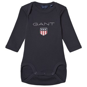 GANT Large Shield Long Sleeve Body Baby Body Navy 68cm (6 months)