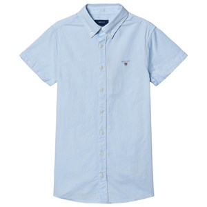 GANT Short Sleeve Oxford Skjorte Blå 122-128cm (7-8 years)