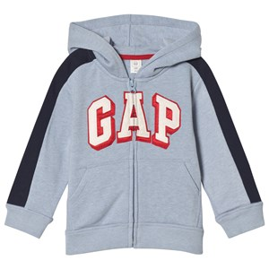 GAP Fleece Logo Zip Baby Hoodie Blue Heather 2 år