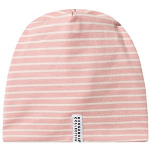 Geggamoja Stribet Fleece Beanie Mellow Rose M (5-6 år)