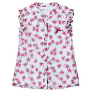 Guess Watermelon Hearts Ruffle Blouse 3 years