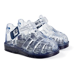 Igor Cholo Jelly Sandals Transparent Navy 17 (UK 1)