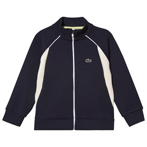 Lacoste Panel Zip Sweatshirt Navy 6 years